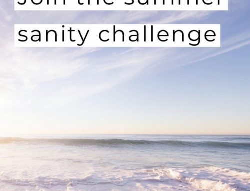 Join the Summer Sanity challenge